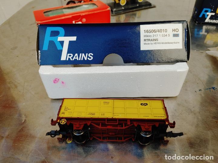 R TRAINS. RTRAINS HO. REF 16506/4010 HIKKS 217 1 534 5 HERIS VAGON AMARILLO NUEVO (Juguetes - Trenes Escala H0 - Otros Trenes Escala H0)