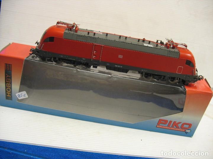 Trenes Escala: LOCOMOTORA PIKO DE LA DB ALEMANA ROJA 57411 - Foto 6 - 277476238