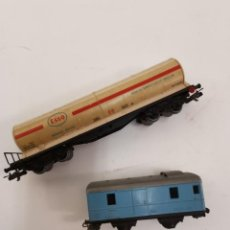 Trenes Escala: PAREJA DE VAGONES. MEDIADOS S.XX.. Lote 277573073