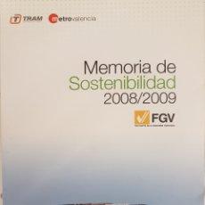 Trenes Escala: FERROCARRIL. MEMORIA DE SOSTENIBILIDAD 2008-2009. Lote 278359598
