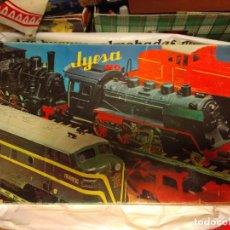 Trenes Escala: TREN JYESA VÍA HO 1942 A PILAS COMPLETO FUNCIONA PERFECTAMENTE ORIGINAL AÑOS 70 80. Lote 278680718