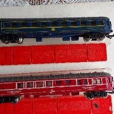 Trenes Escala: U-92.- LOTE DE -- 2 -- VAGONES DE TREN -- JOUEF -- VAGONES RESTAURANTE , BUEN ESTADO , VER FOTOS. Lote 279511538