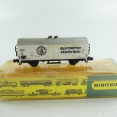 Trains Échelle: VAGÓN ALPIRSBACHER KLOSTERBRAU MINITRIX REF 3224. Lote 285379373