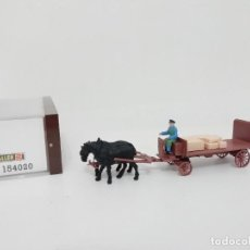 Trenes Escala: FALLER H0 154020 CARRO DE TRANSPORTE + CABALLOS OVP. Lote 286008618