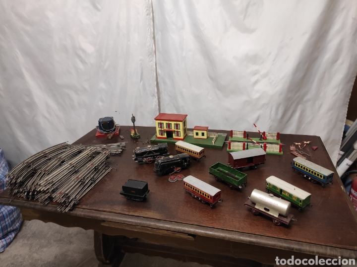 Trenes Escala: Lote juguetes tren locomotoras estación Payá - Foto 12 - 287995773