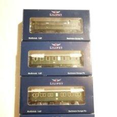 Trenes Escala: LILIPUT LOTE 4 VAGONES. Lote 288199858