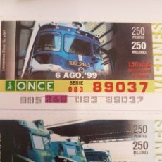 Trenes Escala: ONCE. DOS CUPONES TER Y TAF. Lote 288673248