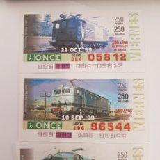 Trenes Escala: ONCE. TRES LOCOMOTORAS ELÉCTRICAS RENFE. Lote 288675568