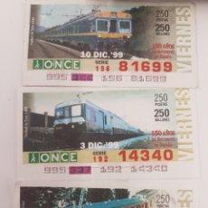 Trenes Escala: ONCE. TRES UNIDADES TREN ELÉCTRICAS RENFE. Lote 288676928