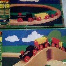 Trenes Escala: 2 CAJAS DE TRENES BRIO. VINTAGE. AÑO 1991. Lote 288916668
