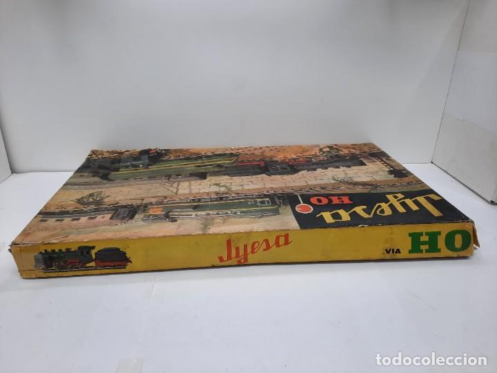 Trenes Escala: JYESA LOCOMOTORA ROJA Y VAGONES MODELO 1940 TREN FERROCARRIL ESCALA H0 FUNCIONANDO !! - Foto 19 - 288950283