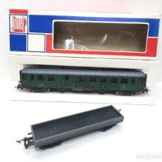 Trenes Escala: JOUEF H0 5 VAGON PASAJEROS Y MERCANCIAS TIPO IBERTREN MARKLIN RICO. Lote 290118443