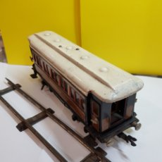 Trenes Escala: ANTIGUO VAGÓN DE HOJALATA COCHE RESTAURANTE. Lote 293889148