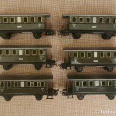 Trenes Escala: LOTE DE 6 VAGONES DE PASAJEROS METAL H0. Lote 293962868