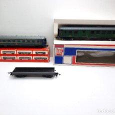 Trenes Escala: LOTE 3 VAGONES HO JOUEF VAGON CAMA PASAJEROS Y MERCANCIAS TIPO IBERTREN ELECTROTREN LIMA. Lote 295530148