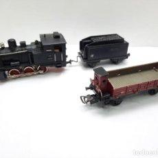 Trenes Escala: LOCOMOTORA 1003 CON TENDER JYESA HO Y VAGON TIPO IBERTREN MARKLIN. Lote 295540743
