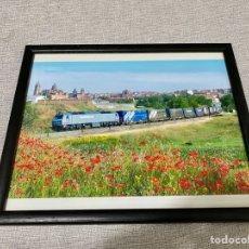 Trenes Escala: CUADRO CON FOTO DE TREN. Lote 296735583