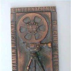 Trofeos y medallas: CERTAMEN NACIONAL INTERNACIONAL CINE AMATEUR IGUALADA. Lote 174961874