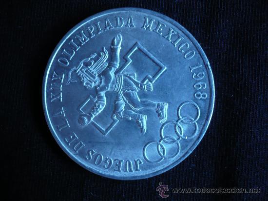 Moneda Conmemorativa Olimpiadas 1968 Mexico Comprar Trofeos Y
