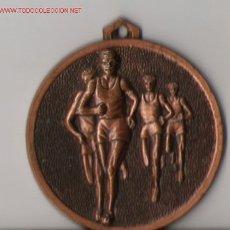 Trofeos y medallas: MEDALLA DEPORTIVA DEL XII CROSS AYUNTAMIENTO CANTIPALO 8/12/88. Lote 12730435