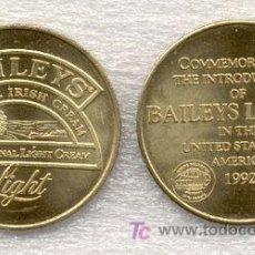 Trofeos y medallas: MEDALLA CONMEMORATIVA DE LA INTRODUCCIÓN DEL LICOR BAILEYS LIGHT EN ESTADOS UNIDOS (AÑO 1992). Lote 24482363