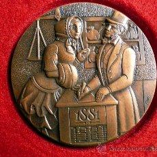 Trofeos y medallas: MEDALLA CENTENARIO BANC DE SABADELL 1881/ 1981. Lote 13717312