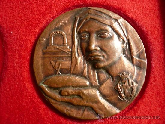 MEDALLA GREMI FLEQUERS BARCELONA, SANT HONORAT 1984 (Numismática - Medallería - Trofeos y Conmemorativas)