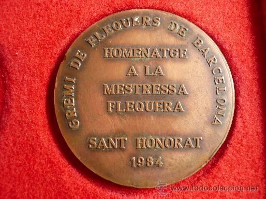 Trofeos y medallas: MEDALLA GREMI FLEQUERS BARCELONA, SANT HONORAT 1984 - Foto 2 - 13791129