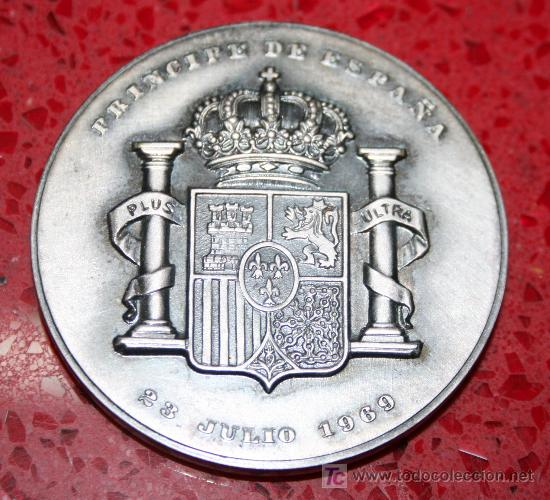 Trofeos y medallas: MEDALLÓN CONMEMORATIVO S A.R D. JUAN CARLOS DE BORBON - PRINCIPE DE ESPAÑA - 23 JULIO 1969 - Foto 2 - 25980928