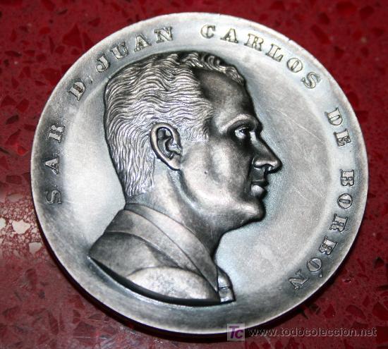 MEDALLÓN CONMEMORATIVO S A.R D. JUAN CARLOS DE BORBON - PRINCIPE DE ESPAÑA - 23 JULIO 1969 (Numismática - Medallería - Trofeos y Conmemorativas)