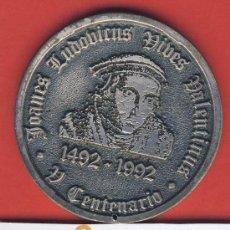 Trofeos y medallas: MEDALLA-V CENTENARIO DE LUIS VIVES-MEDALLA PLATA-1492-1992-VALENCIA 1492-BRUGGE 1540-. Lote 19891296