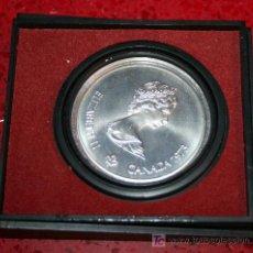 Trofeos y medallas: MONEDA CONMEMORATIVA DE LOS JUEGOS OLIMPICOS DE MONTREAL 1976 - ELISABETH II CANADÁ 1973 - 5 DOLARES. Lote 21288067