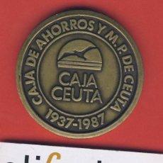 Trofeos y medallas: MEDALLA-CAJA DE AHORROS DE CEUTA-1937-1987 CINCUENTENARIO--60 MM.-105GR.ESTUCHE ORIGINAL. Lote 19402732