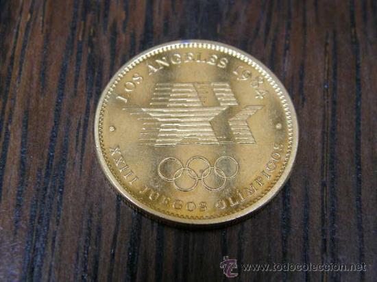 Moneda juegos olimpicos los angeles 1984 olimpi comprar - Bano de oro precio ...