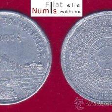 Trofeos y medallas: MEDALLA CALENDARIO - EXPO INTERNACIONAL DE BRUSELAS - 1897 - ALUMINIO. Lote 26604689