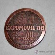 Trofeos y medallas: M-021. BONITA MEDALLA EN BRONCE EXPOSICION INTERNACIONAL DE LA AUTOMOCION Y EL TRANSPORTE 1986. Lote 24107911