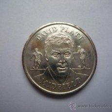 Trofeos y medallas: MONEDA CONMOMERATIVA DEL DAVID PLATT - MIDFIELD 1996 - OFICIAL ENGLAND SQUAD. Lote 24336481