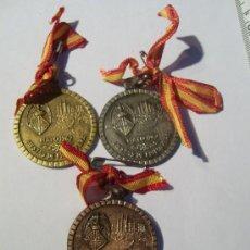 Trofeos y medallas: PALMA DE MALLORCA. FIESTAS DE PRIMAVERA. 1962. CICLISMO PISTA. MEDALLA DE ORO, PLATA Y BRONCE.. Lote 26487180