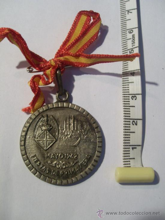Trofeos y medallas: Palma de Mallorca. Fiestas de Primavera. 1962. Ciclismo Pista. Medalla de Oro, Plata y Bronce. - Foto 4 - 26487180