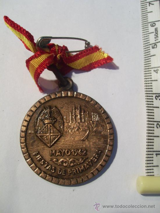 Trofeos y medallas: Palma de Mallorca. Fiestas de Primavera. 1962. Ciclismo Pista. Medalla de Oro, Plata y Bronce. - Foto 6 - 26487180