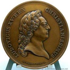 Trofeos y medallas: MEDALLA BRONCE DORADO FRANCIA LUDOVICUS XV 1770 VISITA DEL REY A LA CASA DE LA MONEDA. Lote 27963861
