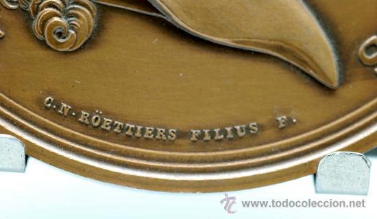 Trofeos y medallas: Medalla bronce dorado Francia Ludovicus XV 1770 visita del rey a la casa de la moneda - Foto 2 - 27963861