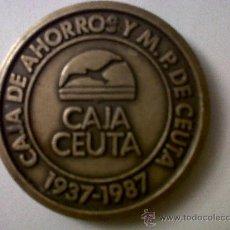 Trofeos y medallas: MEDALLA CAJA DE AHORROS Y M.P.DE CEUTA-CONMEMORATIVA 50 AÑOS 1937-1987 6CMS. Lote 28199660