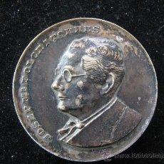 Trofeos y medallas: MEDALLA JOSEP MARIA FOLCH I TORRES EN RELIEVE 1970 FORJADOR DE CATALANS 1880 - 1950 DIAMETRO 5 CENT. Lote 29764508