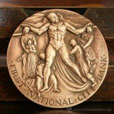 Trofeos y medallas: MEDALLA EN BRONCE COMEMORATIVA 150 AÑOS CITY BANK NEW YORK 1812-1962 EDICION LIMITADA. Lote 29902486