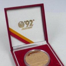 Trofeos y medallas: EXPOSICIÓN UNIVERSAL SEVILLA 1992. MONEDA CON ESTUCHE, .. Lote 29974728