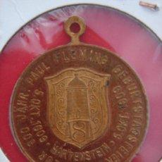 Trofeos y medallas: MEDALLA CONMEMORATIVA 300 AÑOS DEL NACIMIENTO DE PAUL FLEMING 1609-1909. 2,9 CM DIÁM. Lote 30368583