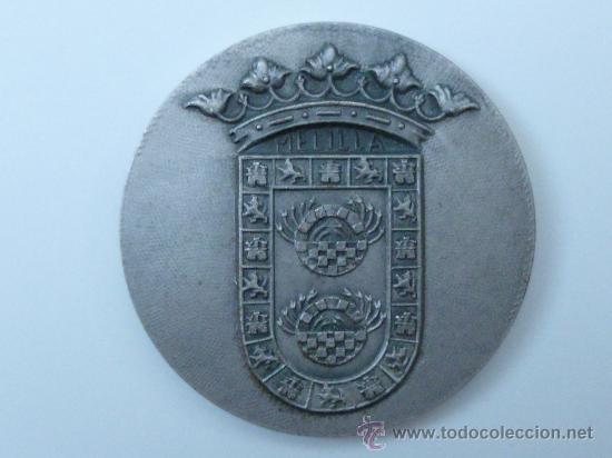 MEDALLA DE LA V SEMANA INTERNACIONAL DE CINE DE MELIILA AÑO 1980 (Numismática - Medallería - Trofeos y Conmemorativas)