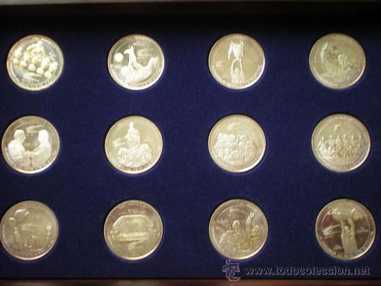 12 MONEDAS CENTENARIO REAL MADRID (Numismática - Medallería - Trofeos y Conmemorativas)