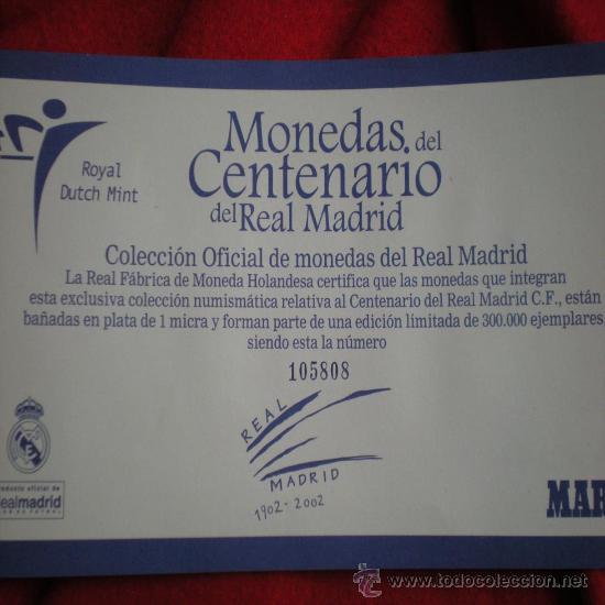 Trofeos y medallas: 12 MONEDAS CENTENARIO REAL MADRID - Foto 2 - 31782627